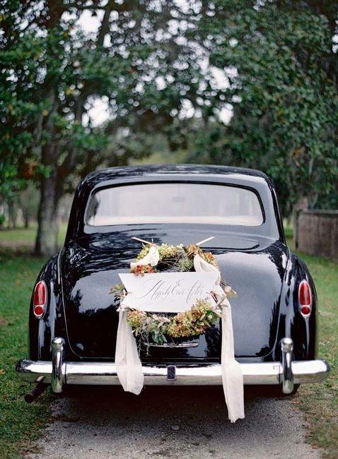 Ideas para decorar el auto de novios 5