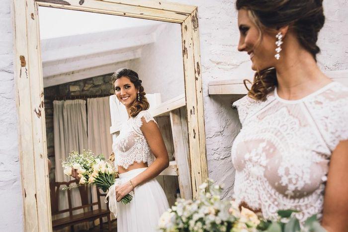 Vestido de novia en dos piezas 2