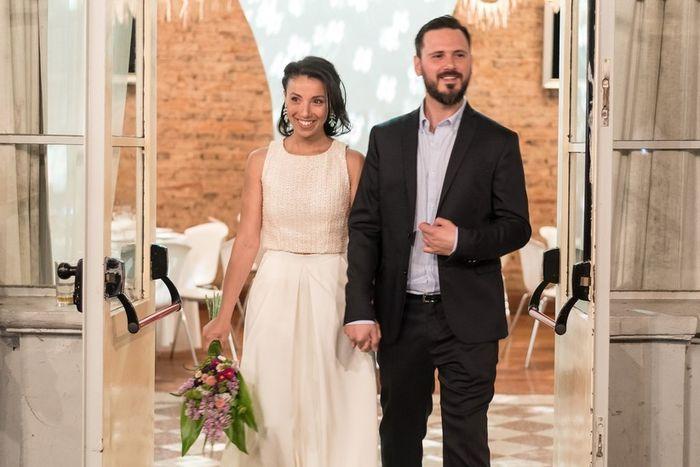 Vestido de novia en dos piezas 7