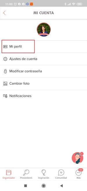 ¿Cómo cambio la fecha de mi boda en la App? 2