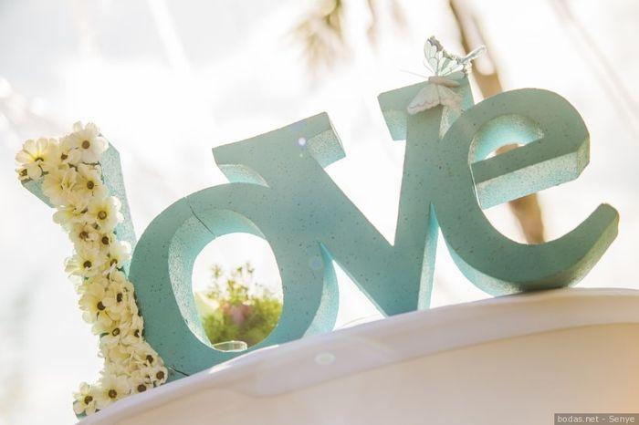 Carteles en tu boda: LOVE  ❤️ 8