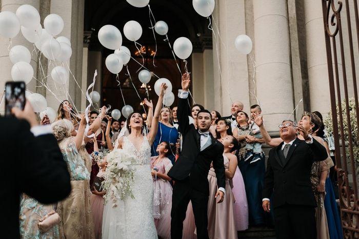 ¡Lancen globos a los novios! 🎈 1