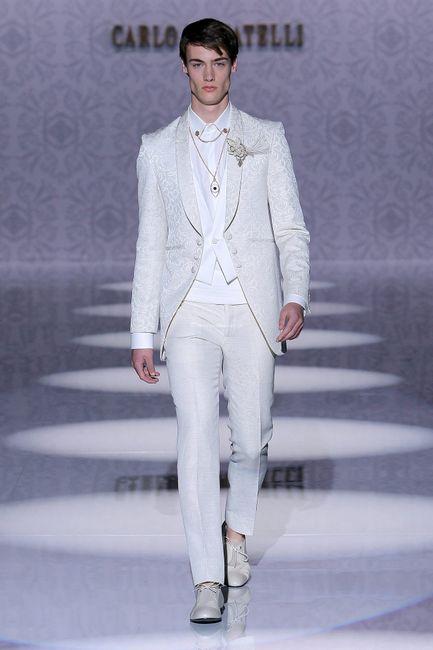 Novios que le dijeron SÍ al terno blanco 😍 6
