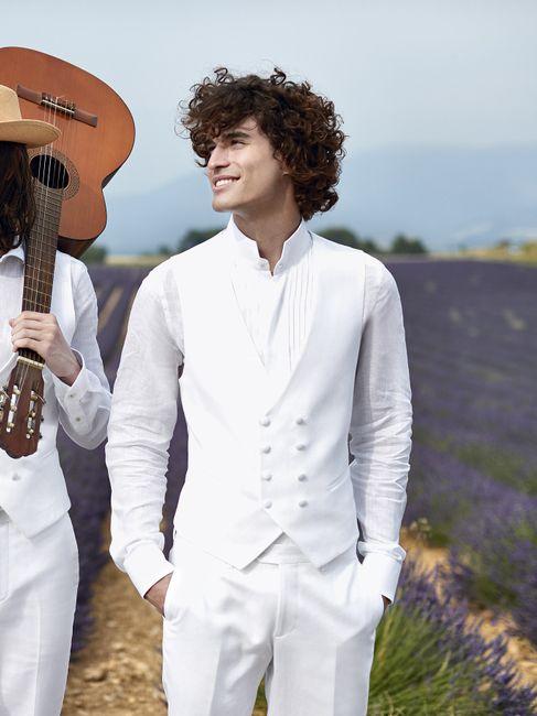 Novios que le dijeron SÍ al terno blanco 😍 7