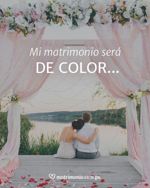 Mi matrimonio será de COLOR...... 1