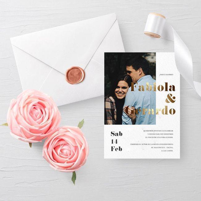 Tendencias 2021: Invitaciones de matrimonio - 10