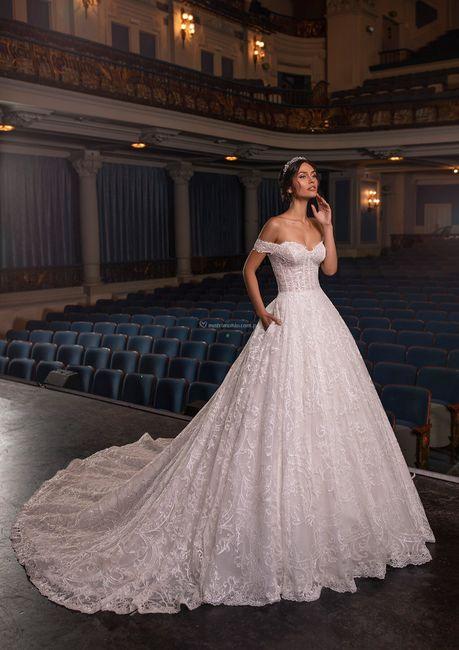 Vestidos de novia corte Princesa 2021 10