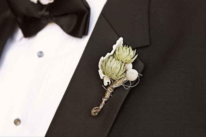 6 Propuestas encantadoras para el Botonier del novio - 2