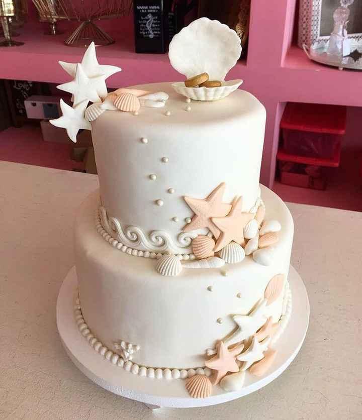Tortas de matrimonio para una boda en la Playa - 1