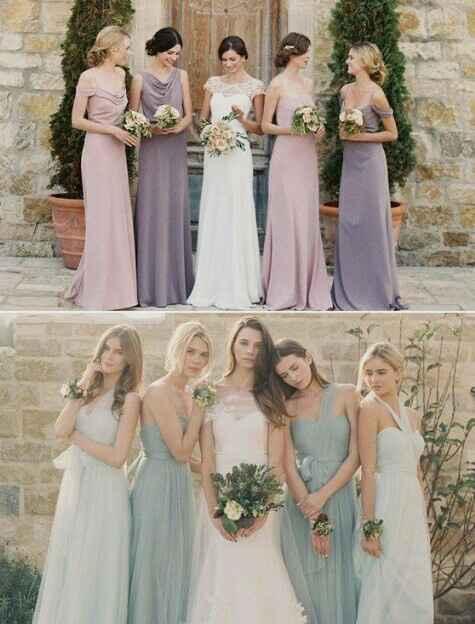 El color del vestido de las damas?? Pastel o intenso???? - 4