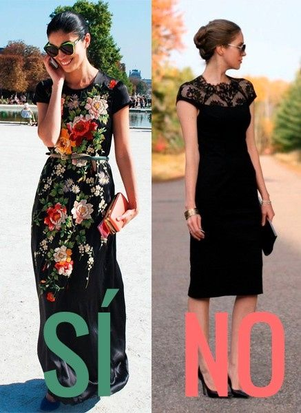 Combinar un vestido negro para una boda