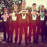 Foto del Novio y sus Best Men