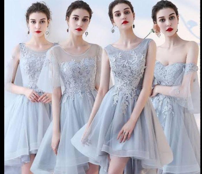 Damas de honor: ¿Blanco, nude o color? 3