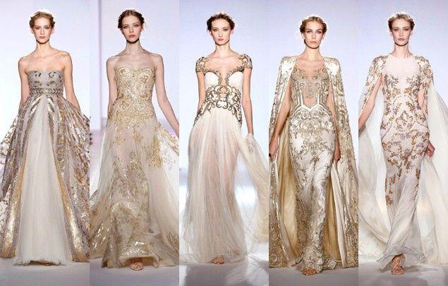 Vestidos de novia en dorado