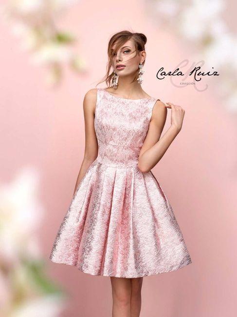 vestidos en tono rosa]: para boda civil o pedida de mano