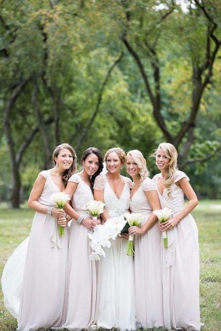 Vestidos blancos de dama de honor