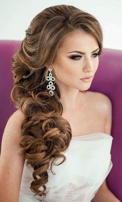 long hair side styles peinados novias con cabello largo 2892 | cfb 220668