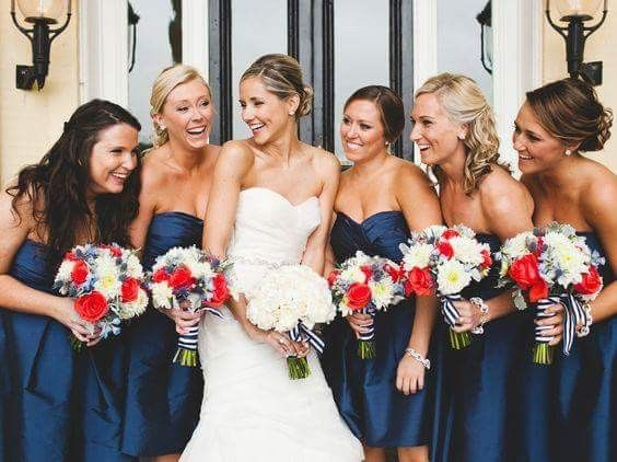 [damas de honor]: Vestidos en tonos azules 2