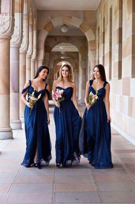 [damas de honor]: Vestidos en tonos azules 3