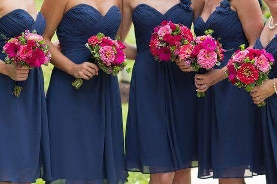 [damas de honor]: Vestidos en tonos azules 5