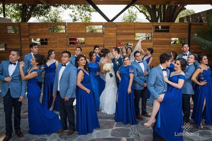 [damas de honor]: Vestidos en tonos azules 6