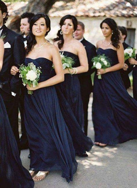 [damas de honor]: Vestidos en tonos azules 7