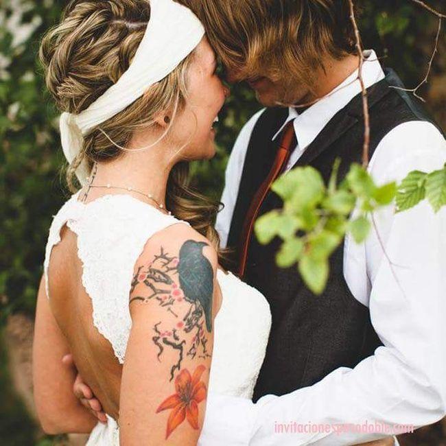 [novias & tatuajes]: Color en la piel 4