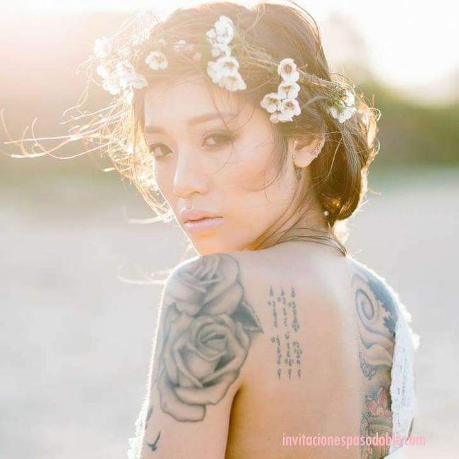 [novias & tatuajes]: Color en la piel 5
