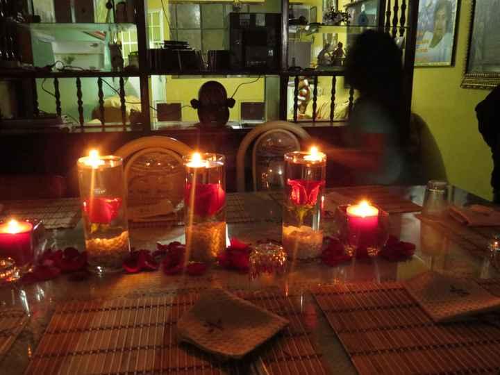 mesa de mi cena de compromiso