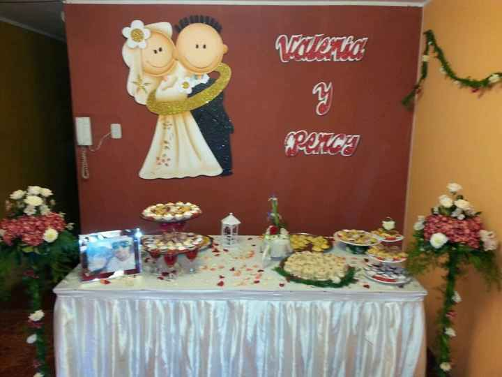 Mi boda civil la mesa torta y bocaditos la hice yoooo - 1