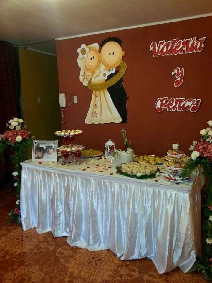 Mi boda civil la mesa torta y bocaditos la hice yoooo - 3