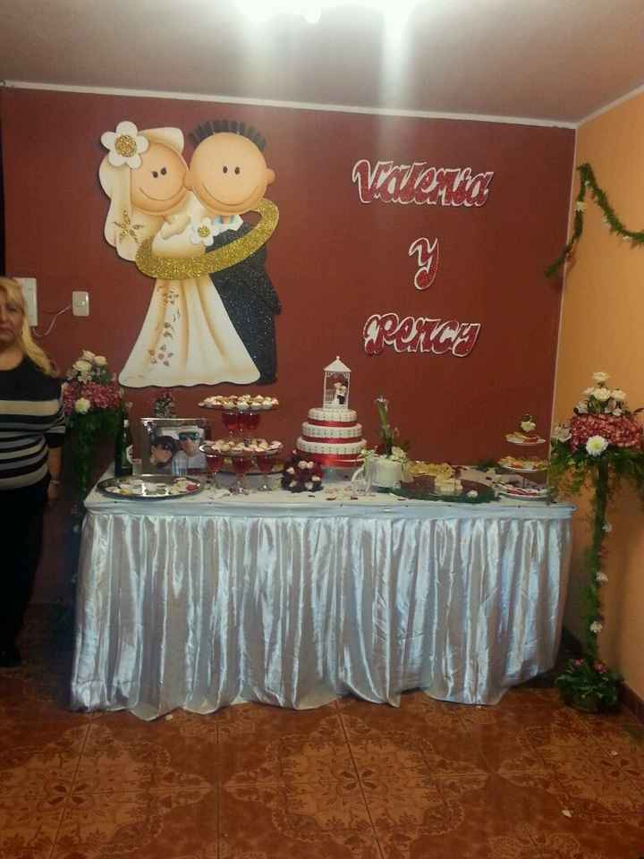 Mi boda civil la mesa torta y bocaditos la hice yoooo - 4