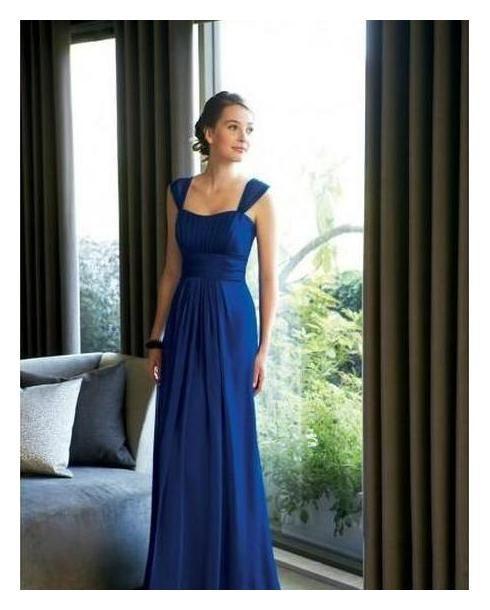 Vestido dama de honor azul electrico