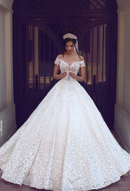 Vestido de novia antes de la boda