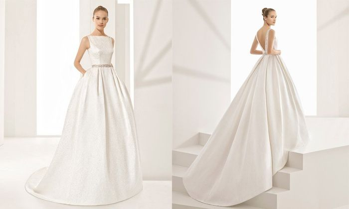 Vestido Corte princesa tela lisa 4