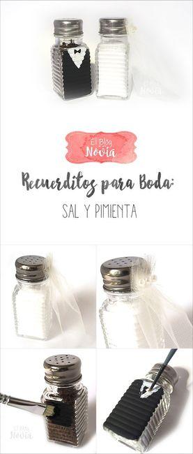Sal y pimienta como recuerdo de boda - Saleros originales ...