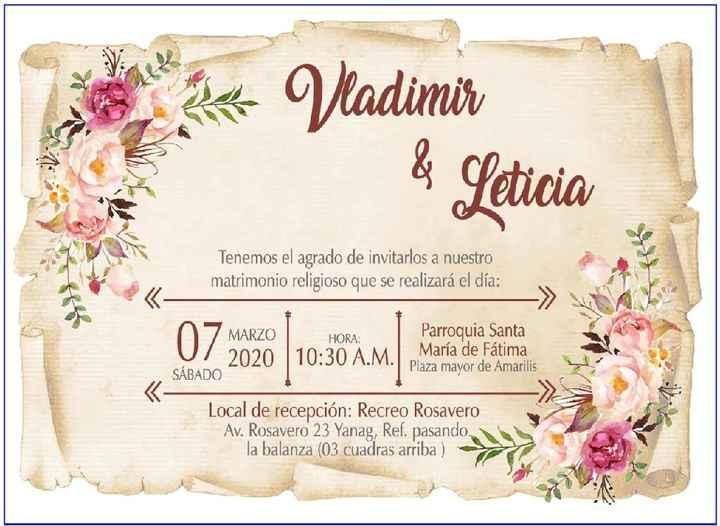 Alardea tus invitaciones de boda  😍 - 1