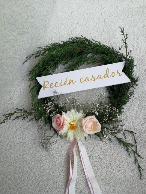 Mi bouquet//boutonniere//corsage//corona para el carro - 4