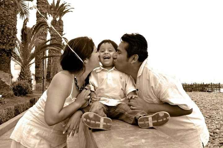 Nuestras fotos pre boda con nuestro hijo - 2