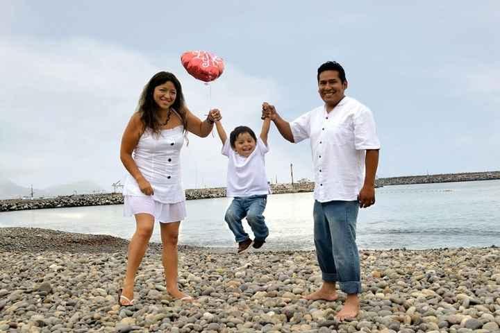 Nuestras fotos pre boda con nuestro hijo - 3
