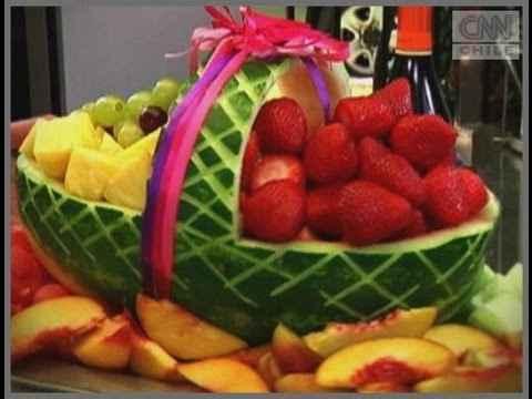 Centros de mesa de fruta para boda - 2