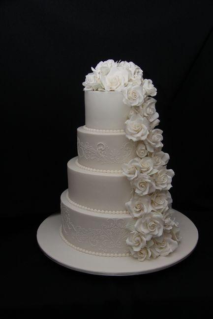 Torta decorada con encajes - 1