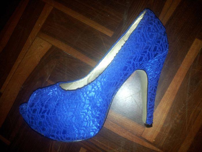 Zapatos de novia para el club de azul - 1
