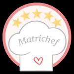 Matrichef. ¡Te lo ganaste!. Por haber participado aquí tienes tu medalla Matrichef. ¡Lúcela!