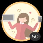 Blogger (50). ¡Ya creaste 50 debates! Internet es tu medio para compartir ideas y dudas con los demás. Presume con esta medalla de ser una auténtica blogger.