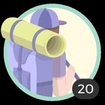 Aventurera (20). Tu espíritu aventurero no conoce límites. Has participado en 20 debates así que ya puedes lucir esta bonita medalla.