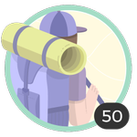 Aventurero (50). Tu espíritu aventurero no conoce límites. Has participado en 50 debates así que ya puedes lucir esta bonita medalla.