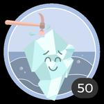 Romper el hielo (50). Sabemos que no es fácil romper el hielo, pero tú no lo pensaste dos veces y decidiste ser el primero en comentar en esos debates. Te mereces esta medalla