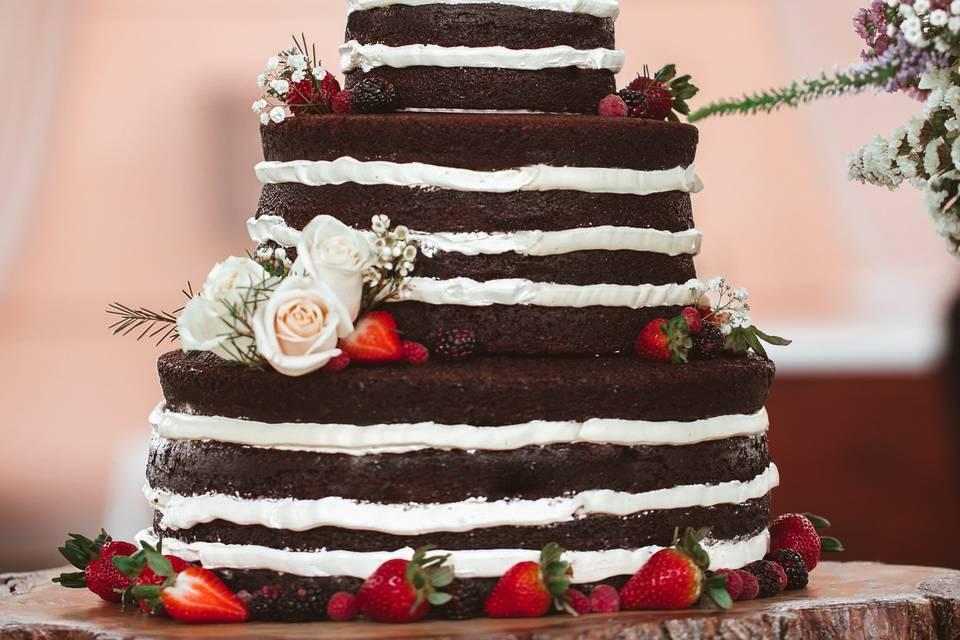 Naked de chocolate para boda