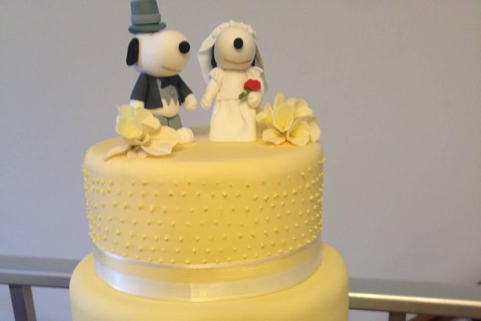 Torta novios Snoopy